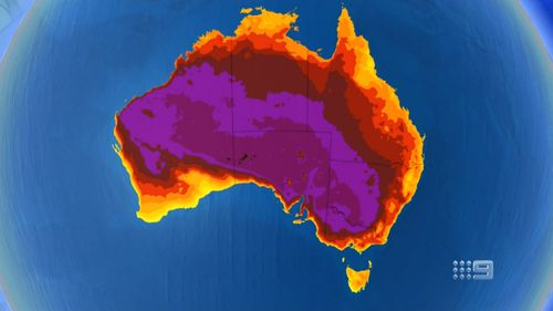 The country is set to swelter this week with temperatures well above 40C in some parts.