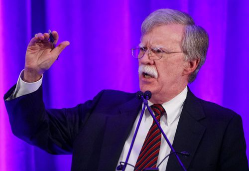 Leading US hawk and National Security Adviser John Bolton.
