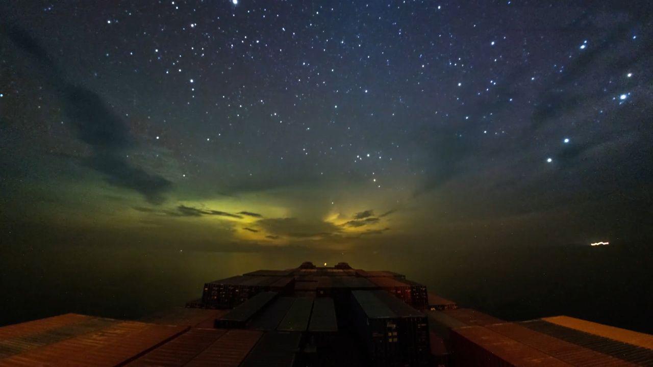 Cargo ship journey