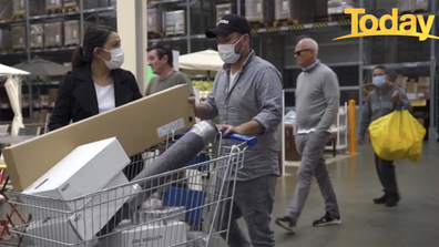 A couple are filmed shopping in IKEA.
