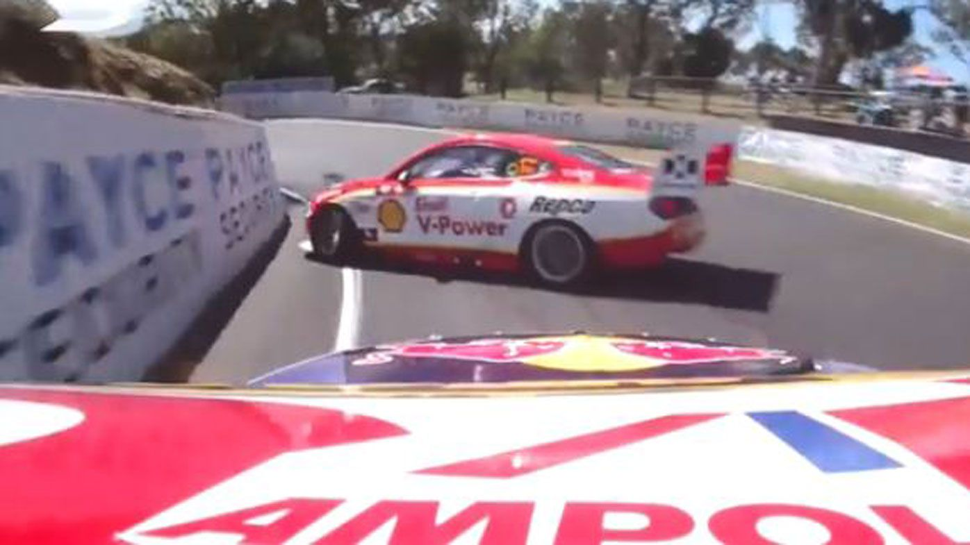 Bathurst 1000: Shane van Gisbergen and Tim Slade clash in opening practice session