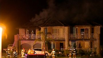 40 firefighters called in to battle house blaze