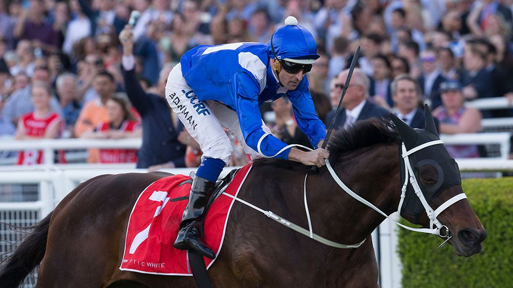 Winx after winning the George Main Stakes.