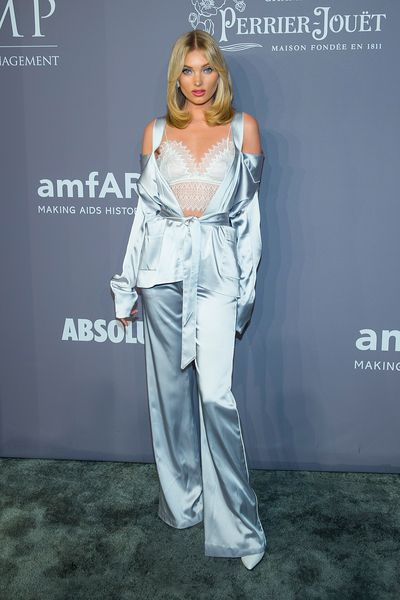 Elsa Hosk in Jonathan Simkhai at the 20th Annual amfAR Gala