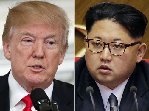 Mr Trump is just months away from meeting with Mr Kim for a summit. (AP/AAP)