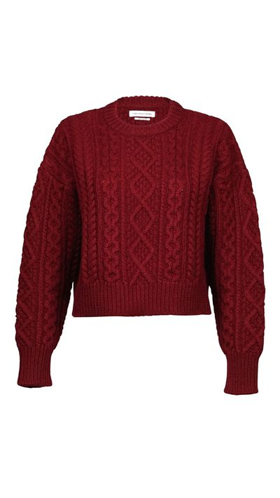 """<p><a href=""""http://www.parlourx.com/brands/isabel-marant/isabel-marant-etoile-newlyn-cropped-knit-bordeaux.html"""" target=""""_blank"""">Jumper, $475, Isabel Marant Etoile at parlourx.com</a></p>"""
