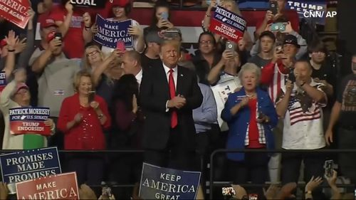"""""""You see what's happening now...the meanness the nastiness,"""" said Trump at West Virginia rally."""