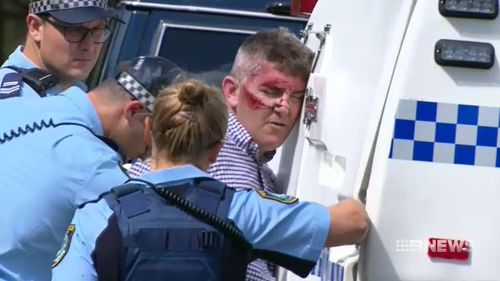 One of the men arrested this morning at Mosman. (9NEWS)