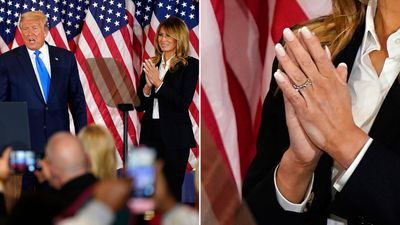 Melania leaves engagement ring off during election night appearance