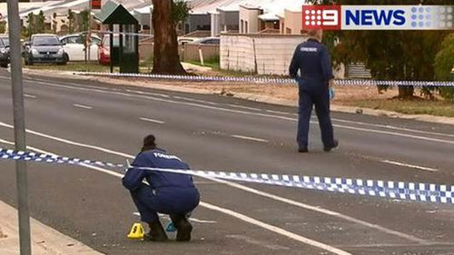 Police access the scene at a multiple stabbing in Ballarat. (9NEWS)