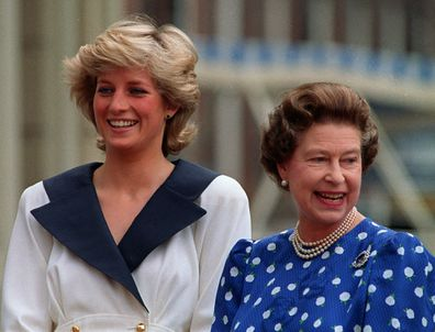 Queen Elizabeth II and Princess Dianna pictured in happier times