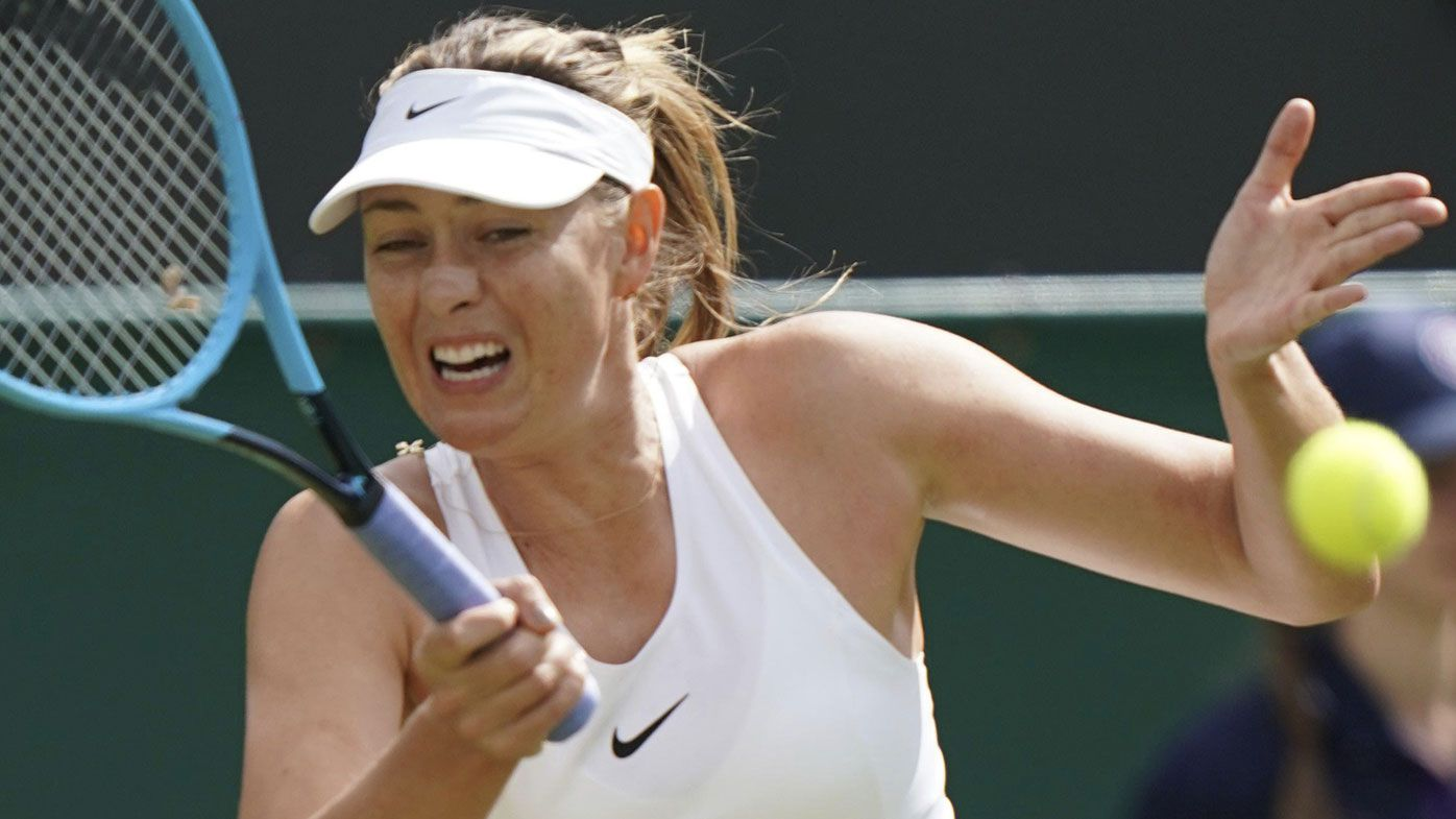 Maria Sharapova near tears after retiring in first-round Wimbledon defeat