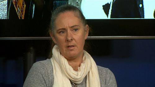 Jill Perrett, 49, was sexually assaulted on a Melbourne train during peak hour. (9NEWS)