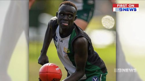 Young footballer Ryal Yak has been accused of attacking a police officer. (9NEWS)