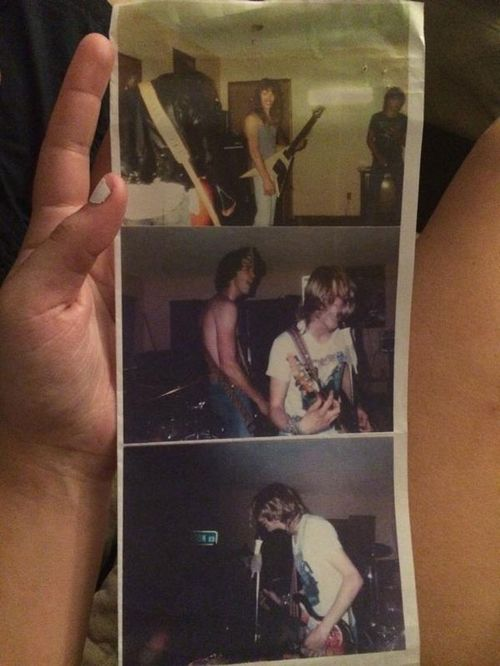 An oblivious US woman tweeted pictures from Nirvana's very first Concert. (Twitter: Maggs)