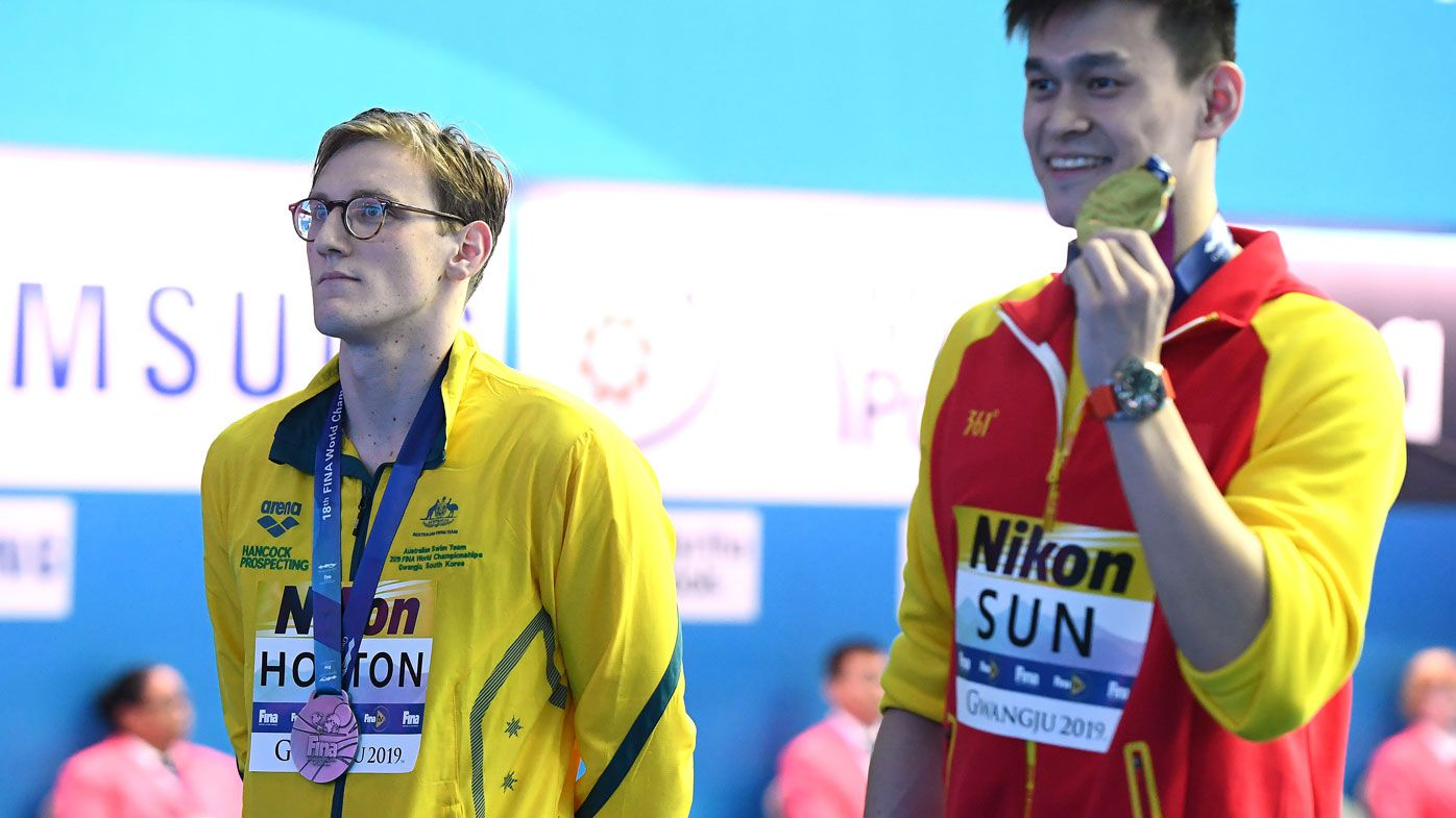 Mack Horton and Sun Yang