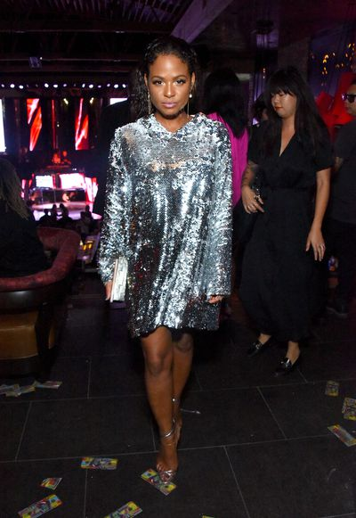 Christina Milan at the VMA after party hosted by Republic Records