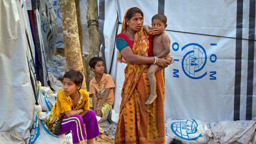 The refugees have been living in temporary camps comprised of bamboo and plastic tents since the August 25, 2017, crackdown by Myanmar military. (AAP)