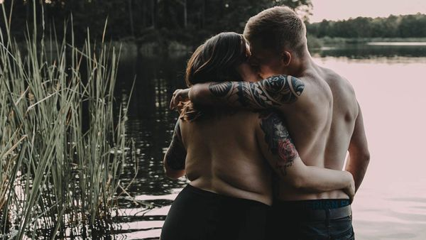 Body-positive engagement shoot