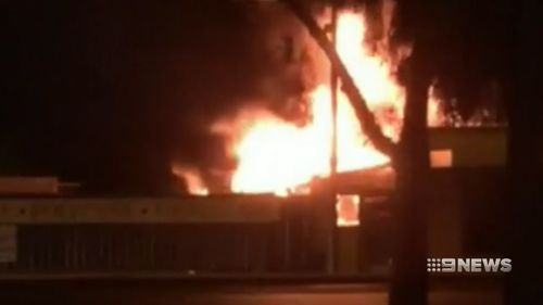 The fire took hold of a property in Adelaide last night.