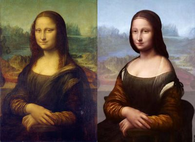There's a second, crappier Mona Lisa under the first