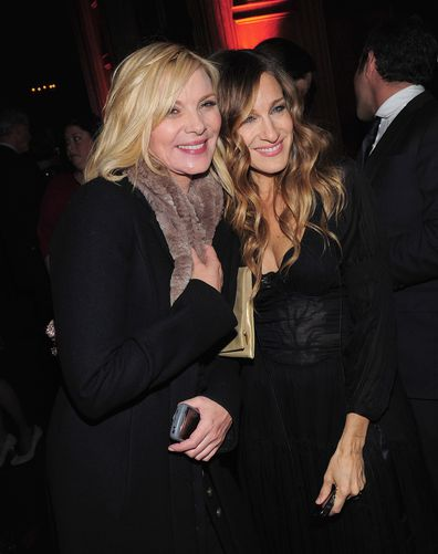 """Kim Cattrall and Sarah Jessica Parker attend the """"Did You Hear About the Morgans?"""" New York premiere after party at  on December 14, 2009 in New York City."""