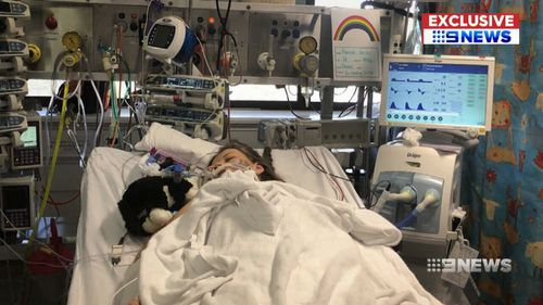 She was placed in an induced coma. (9NEWS)