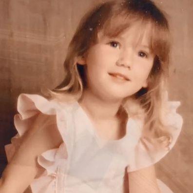 Delta Goodrem as a toddler.