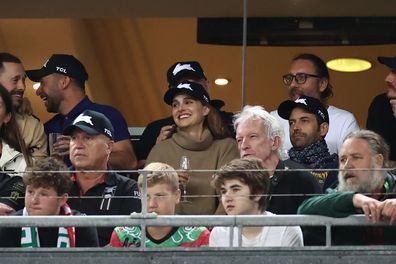 Natalie Portman and husband Benjamin Millepied also watched an NRL game back in March at Stadium Australia.