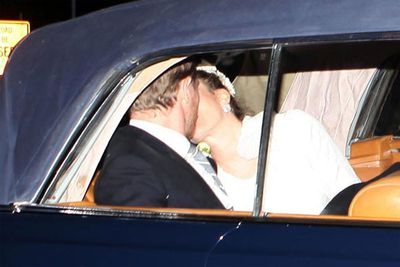 Let's hope it's third time lucky for Drew Barrymore. She tied the knot with hubby number three, Will Kopelman, in June.