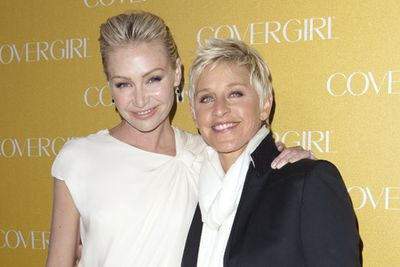 <p>Age gap: 15 years</p><p>The lesbian power couple of Hollywood, Portia began dating Ellen in 2004.</p><p>They've been married since 2008.</p>
