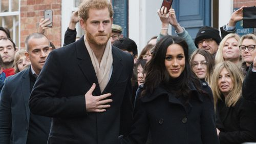 It was the couple's first official royal engagement as a couple. (AAP)