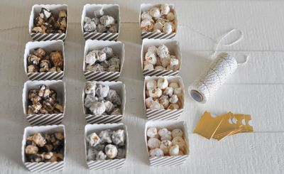 "<p>Popcorn pots</p> <p>These edible party favors filled with the <a href=""https://www.happylab.com.au/collections/popcorn"" target=""_blank"" draggable=""false"">latest popcorn flavours</a>, are from blog <a href=""http://livethefancylife.com/easy-affordable-party-favors-for-the-holidays/"" target=""_blank"" draggable=""false"">www.livethefancylife.com</a>.<br> Fill <a href=""http://www.thepartyparlour.com.au/products/buy/le-petit-gateau-baking-cups-babushka-doll-25?id=f1ce2610e2a3fd89973a0f22e626f05e&amp;key=uIYhcP"" target=""_blank"" draggable=""false"">cardboard cupcake liners</a> with different flavours of popcorn, wrap in cellophane with twine and add a tiny gift tag. Done!</p>"