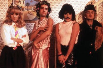 Freddie and the gang dragged it up for their infamous 'I Want To Break Free' video - turns out drummer Roger Taylor makes a totally pretty schoolgirl!