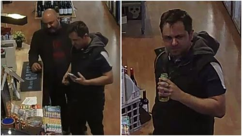 Police are searching for the two men pictured.