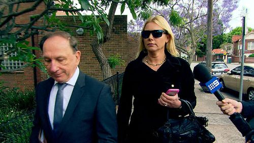 Lizzie Buttrose outside Waverley courthouse earlier this year. (9News)