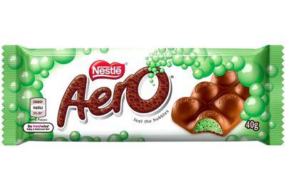 Aero (40g bar): 220 calories/920kj