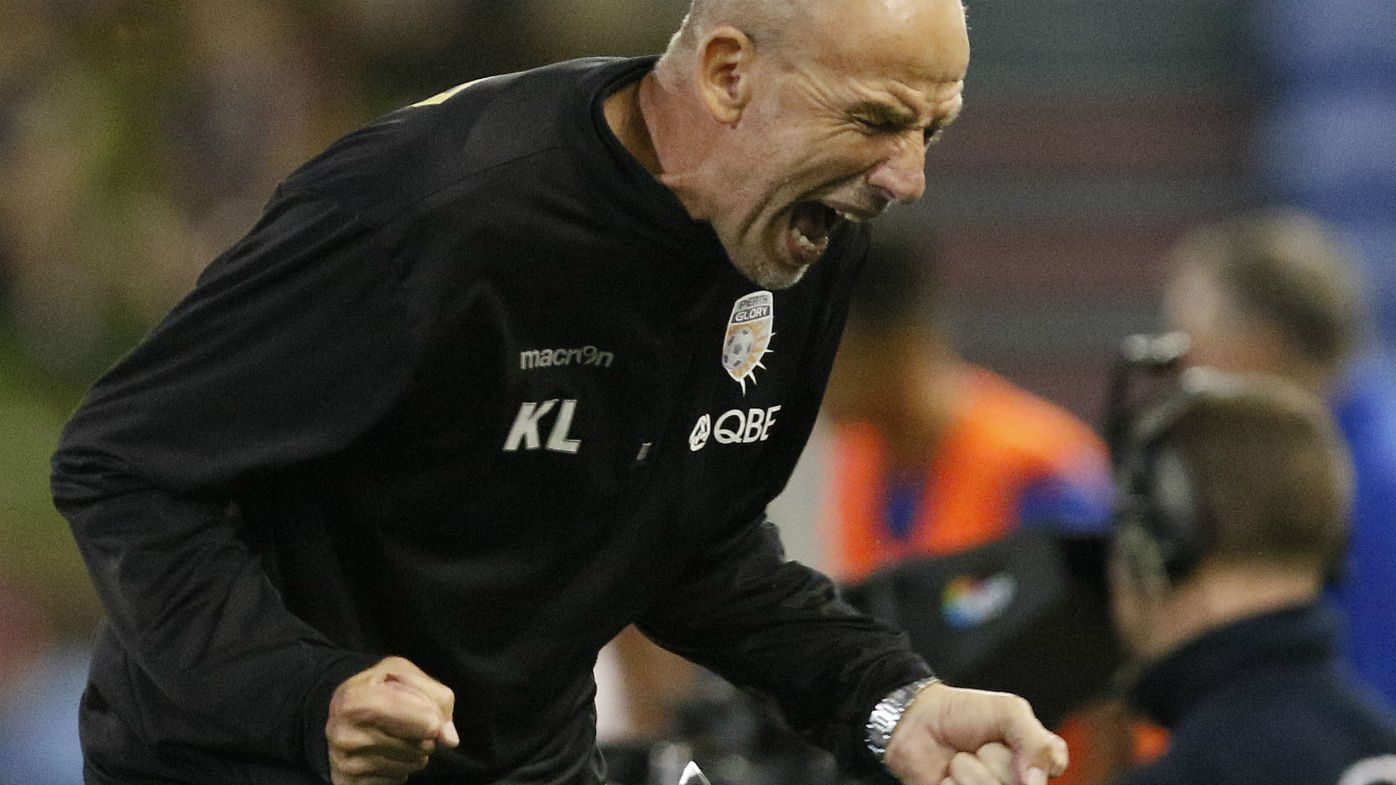 Perth Glory coach Kenny Lowe during the Round 26 A-League match