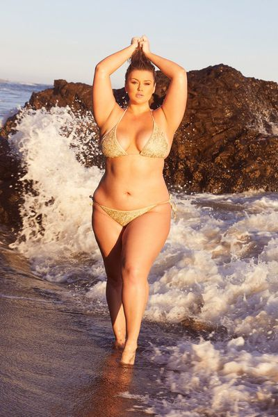 "<p><a href=""https://www.playfulpromises.com/collections/hunterxplayful/products/hunter-mcgrady-sequin-bikini-top"" target=""_blank"">Hunter McGrady Plus Size/Curve Sequin Bikini Top, $58</a></p> <p><a href=""https://www.playfulpromises.com/products/hunter-mcgrady-sequin-bikini-tie-side-brief"" target=""_blank"">Hunter McGrady Plus Size/Curve Sequin Bikini Tue Side Brief, $36</a></p>"