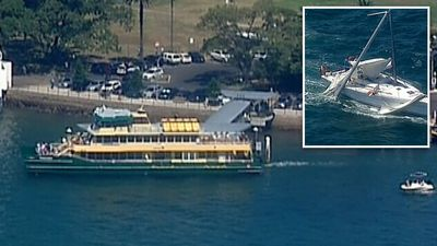 Ferry collides with yacht in Sydney Harbour