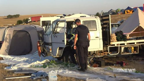 Four people were injured in the accident at the Lexton site yesterday.