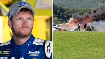 Dale Earnhardt Jr escaped a fiery plane crash in Tennessee this morning.