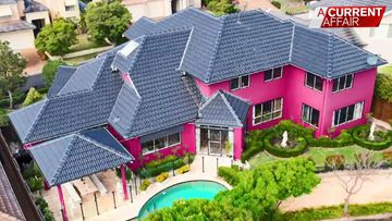 Eclectic 'pink palace' up for grabs