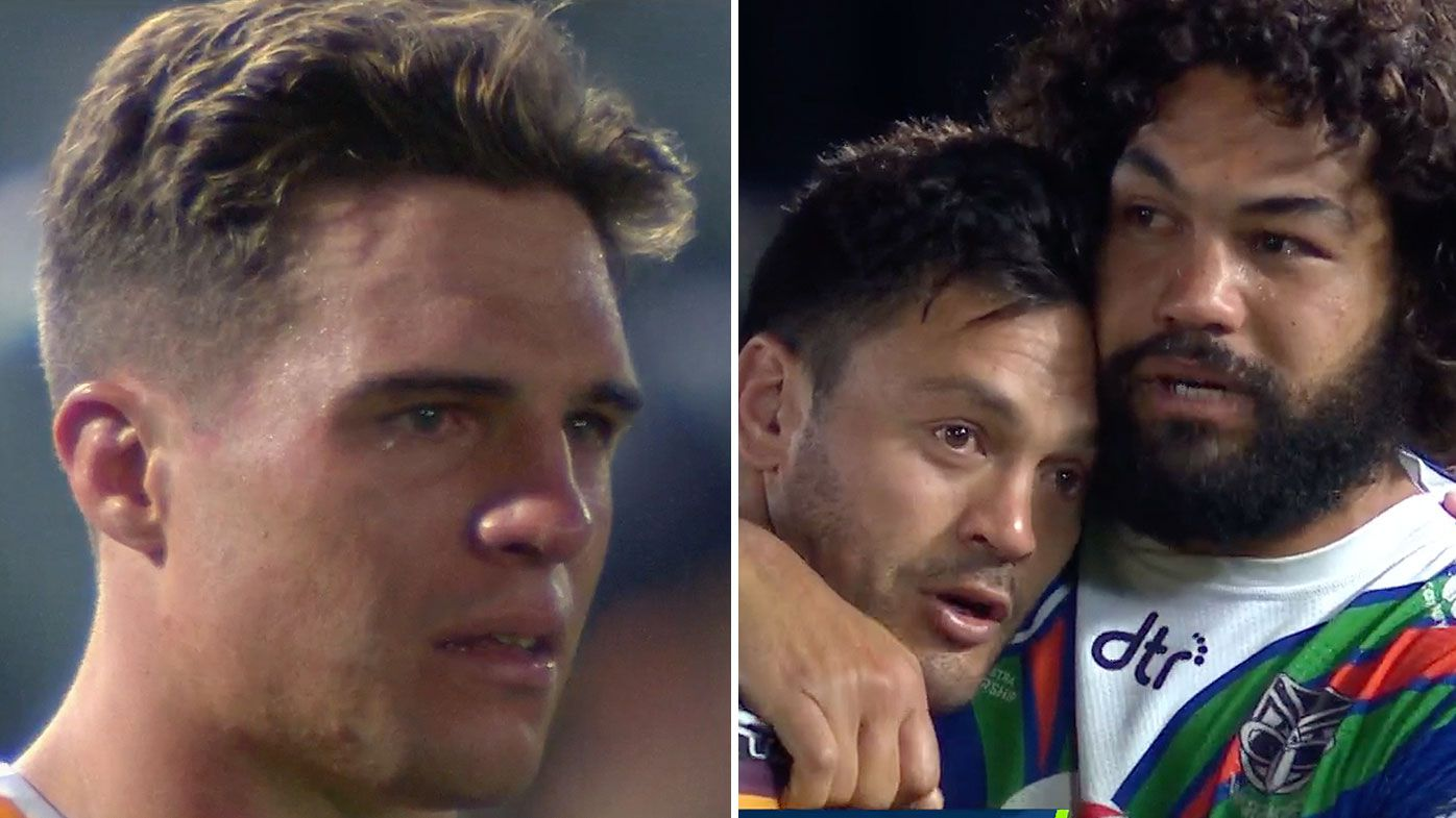 Broncos players reduced to tears after loss to Warriors