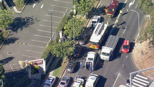 Driver seriously injured after truck exploded into flames on western Sydney street