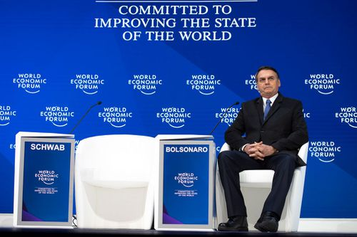 The environment dominated talks at the World Economic Forum on Tuesday, and the nationalist leader struck a conciliatory tone in a keynote speech – a far cry from the combative one he had taken on the campaign trail when he once threatened to join the United States and pull Brazil out of the Paris climate accord, which set a limit on global warming.