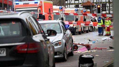 Children are among the injured victims after a car ploughed into a crowd of people at a German carnival celebration.