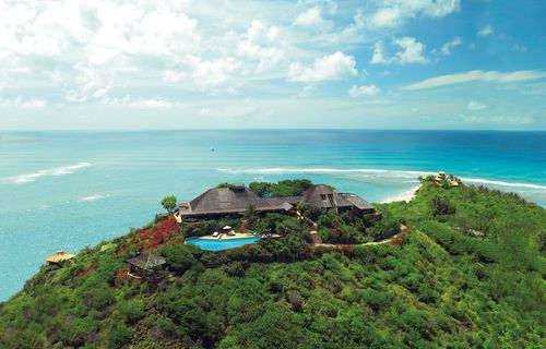Sir Richard Branson's luxury home, on Necker Island, in the Caribbean. The billionaire was the subject of public criticism after he asked the UK government to help bail out Virgin Atlantic.