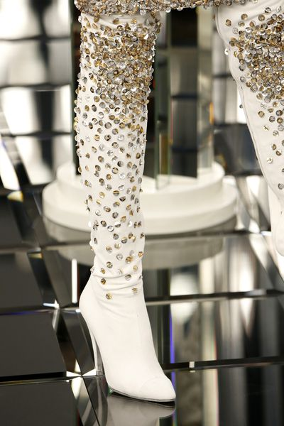 Chanel Haute Couture Spring 2017. Retro 60's style boots with a modern twist.