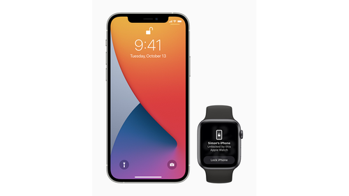 Customers can now use their Apple Watch to securely unlock iPhone when Face ID is enabled while wearing a face mask.